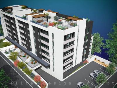 Elvila-3 camere 77,41mp+6,59mp balcoane+87,66mp terasa+loc parcare subteran