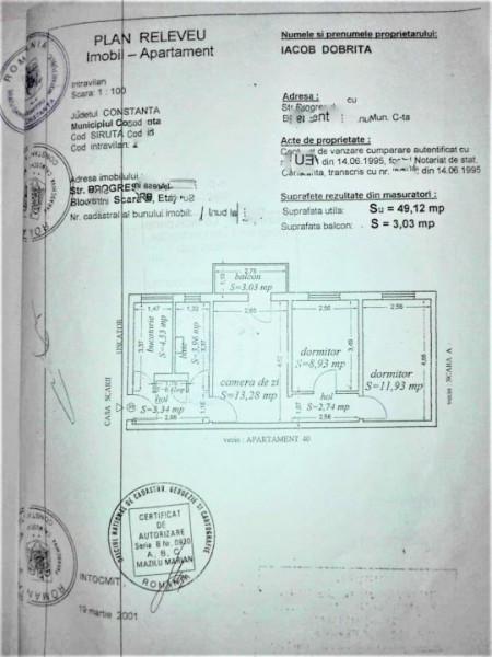Apartament 3 camere, mobilat, zona Km 4-5
